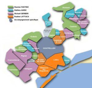 Carte CEP ALEC Montpellier métropole