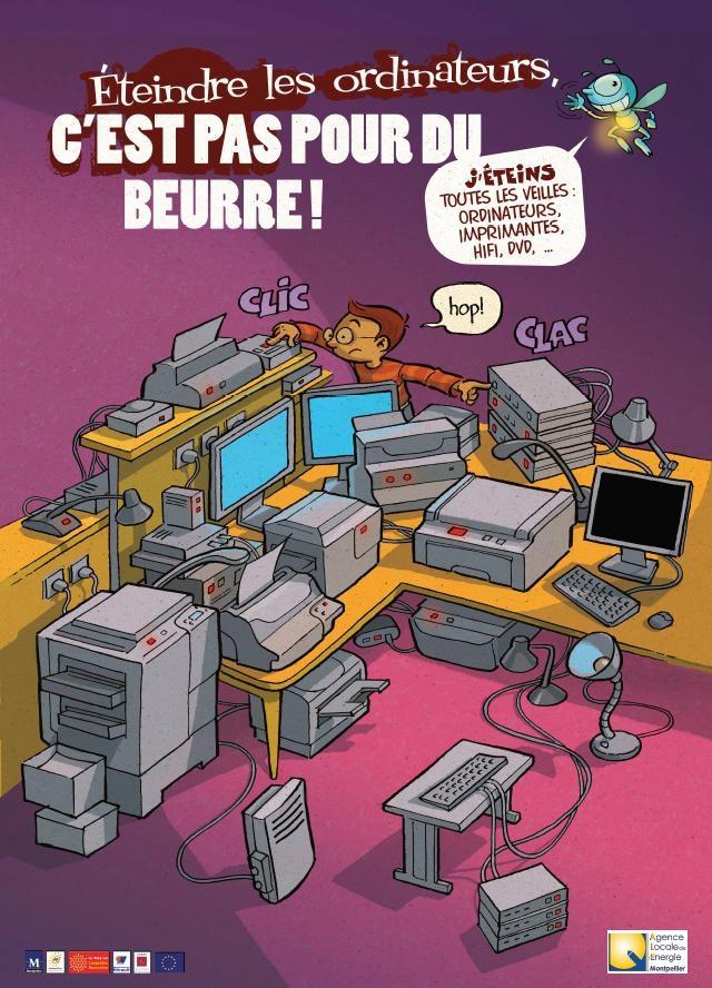 Affiche éco'minots ordinateurs