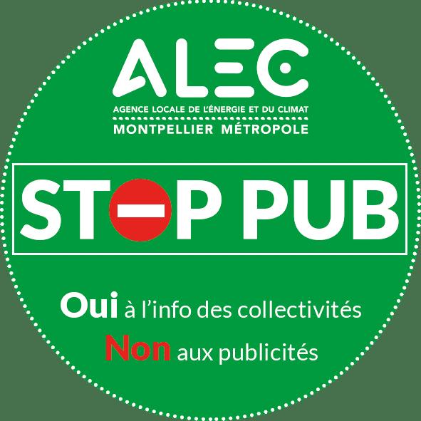 Autocollant stop pub 2018