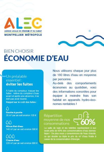 Couverture flyer eau ALEC
