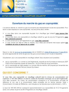 ouverture marche gaz - ALE Montpellier