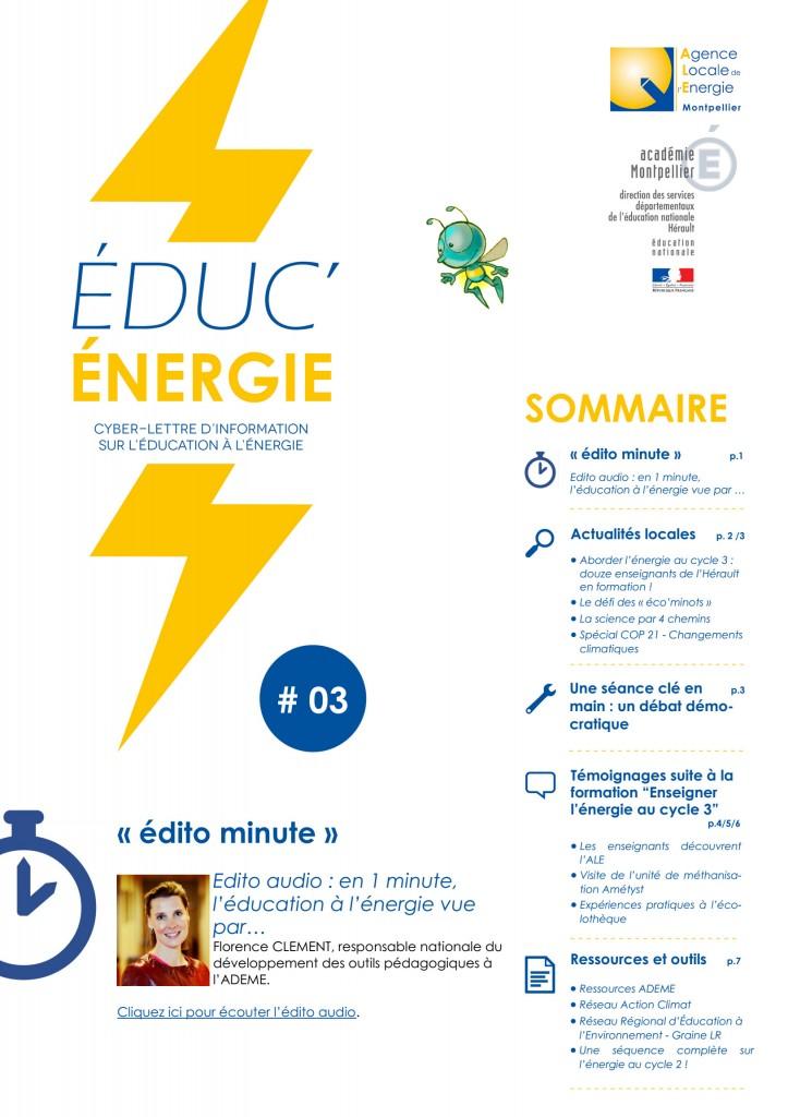 Éduc'Énergie 3 – Juin 2015