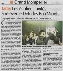 Les Éco'minots dans le midi libre en 2015