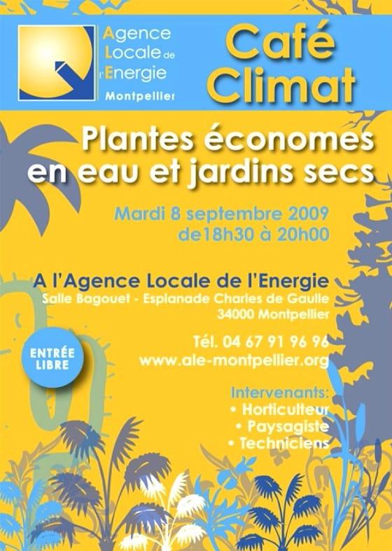Affiche café climat 2009 plantes économes en eau
