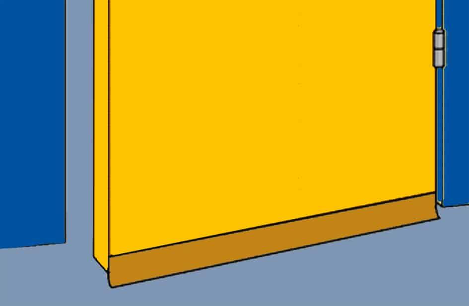 protège courant d'air ou boudin de bas de porte-MC