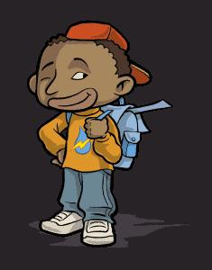 image - écolier souriant