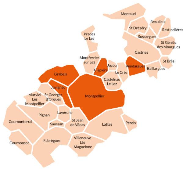 Communes participantes défi éco'minots 2019-2020