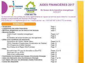 Couverture guide aides financières Occitanie 2017