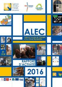 Couverture Rapport d'activités ALE 2016
