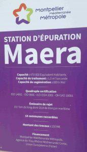 Panneau affichage station épuration maera