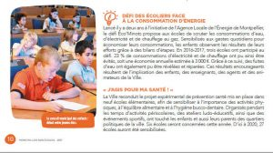 Les Éco'minots dans le magazine des écoles de la ville de Montpellier