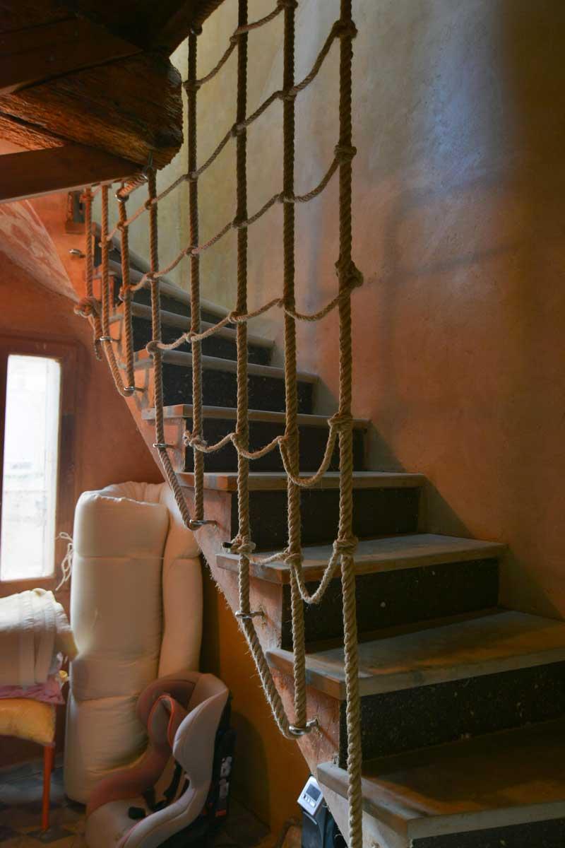 Escalier en voute sarrasine visite de site rénovation écologique