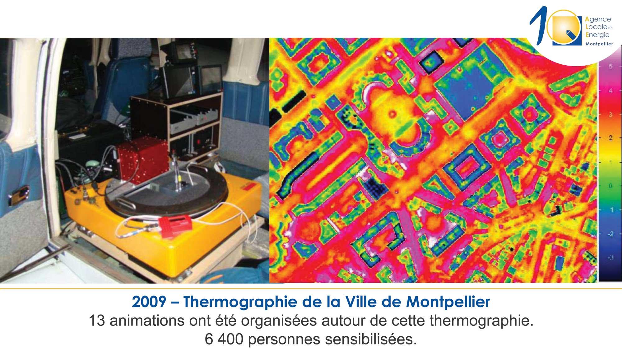 2009 thermographie aérienne de Montpellier