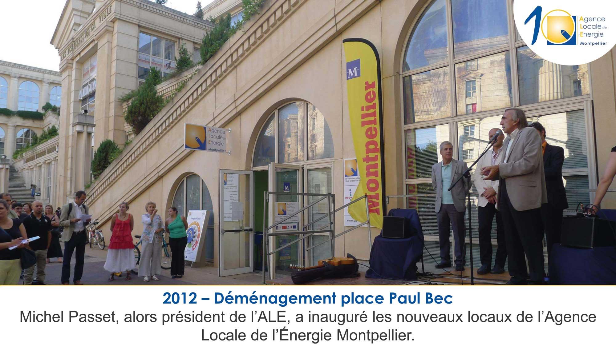 2012 - inauguration des nouveaux locaux de l'Agence Locale de l'energie