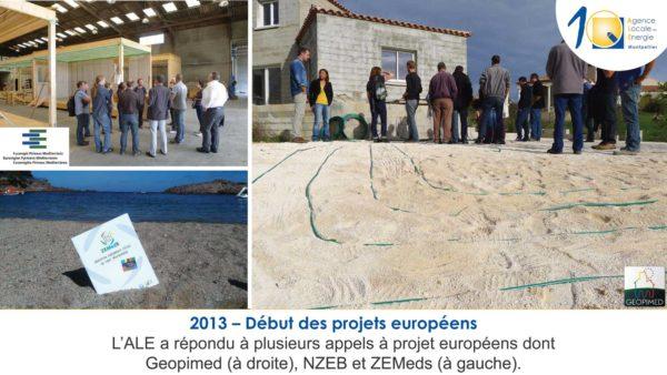 2013 - début des projets européens