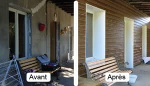 Avant et après travaux visite de site isolation par l'extérieur