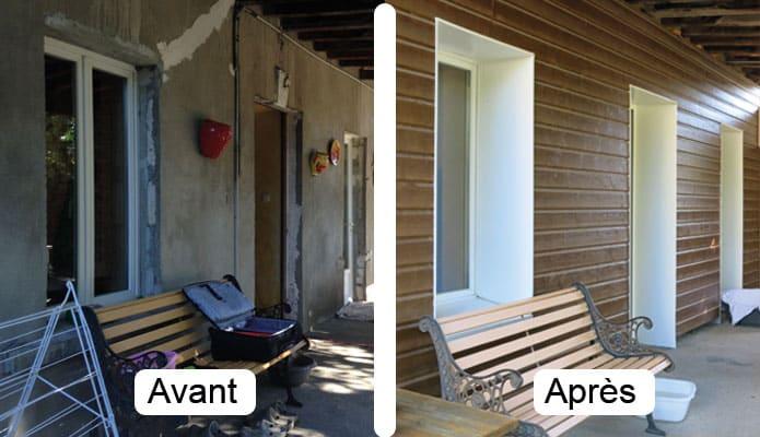 Avant et après travaux visite de site isolation par l