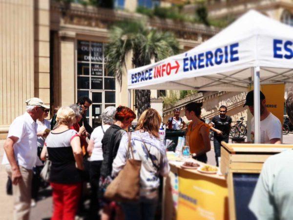 Vue stand café climat alimentation et énergie