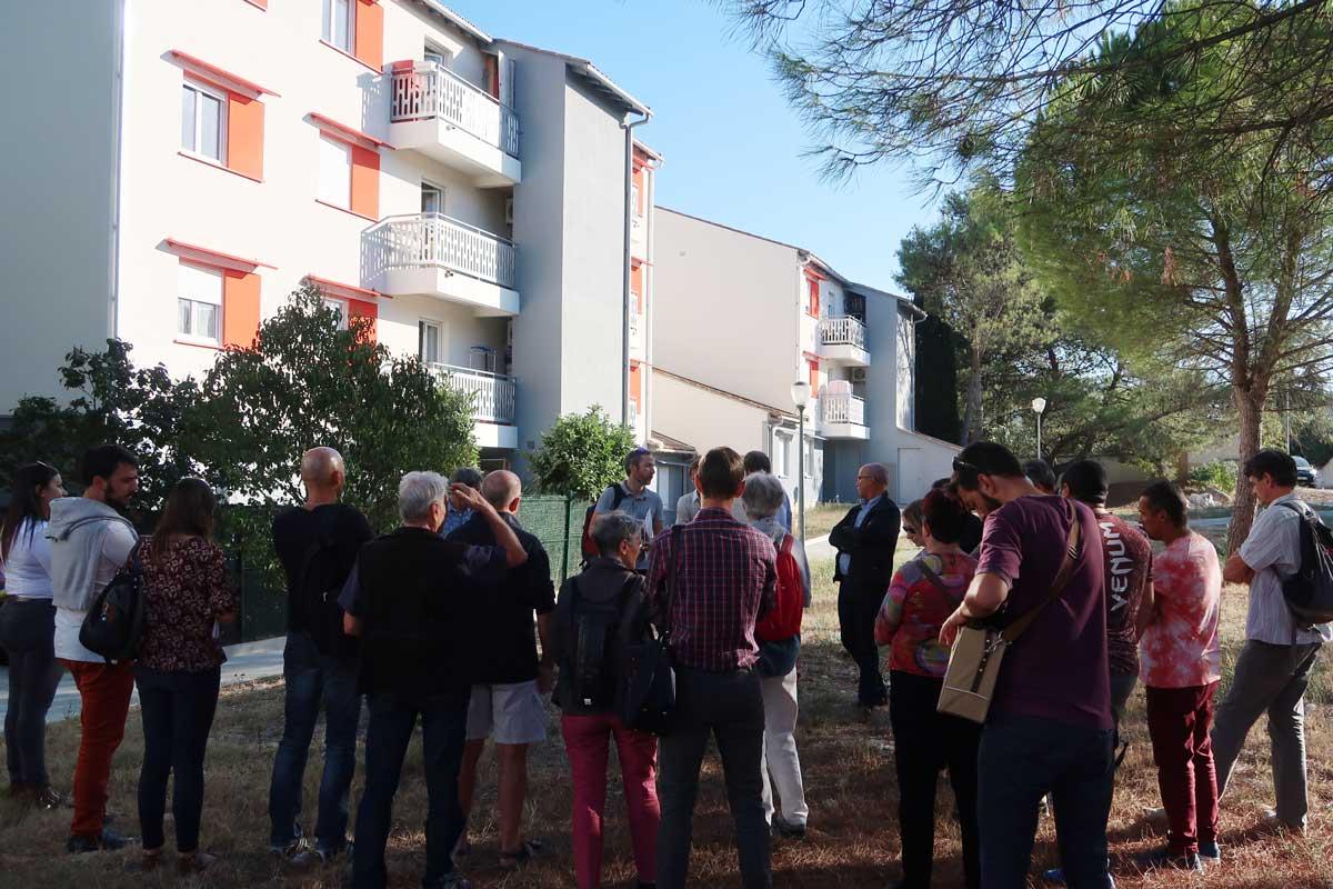 Public visite de site rénovation BBC sur copro