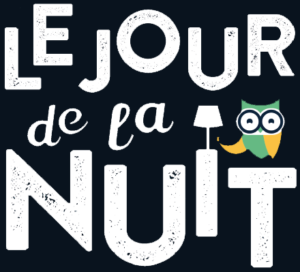 Logo jour de la nuit fond noir