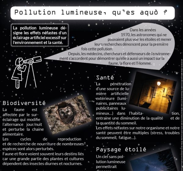 QU'est-ce que la pollution lumineuse ? Tryptique jour de la nuit ALEC MOntpellier Métropole
