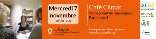 Café Climat 7 novembre, votre projet de rénovation ? parlons en !