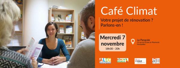 Café Climat 7 novembre rénovation, parlons en !