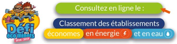 Consultez en ligne le classement des écoles économes défi des éco'minots 2018 - 2019