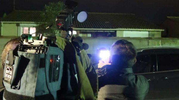 Film pendant la balade thermographique de février à Cournonsec