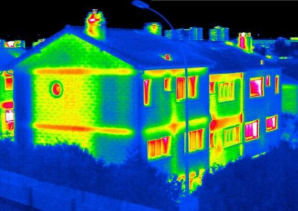 Immeuble thermographié