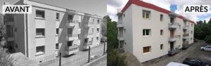 Avant après rénovation copropriété Montpellier