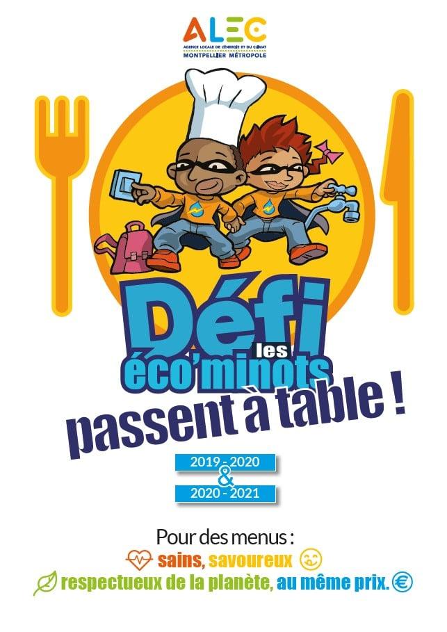 Dépliant présentation le défi les éco'minots passent à table