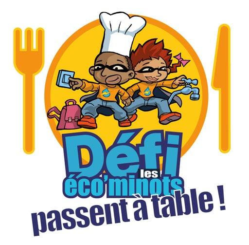 Logo défi les éco'minots passent à table