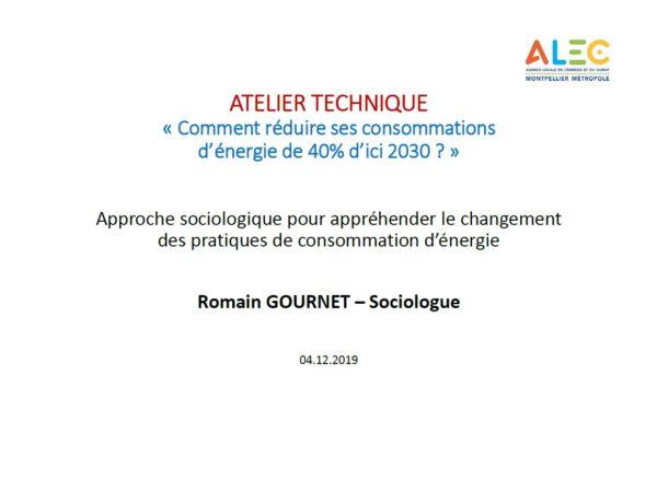 Approche sociologique changement comportement Romain Gournet