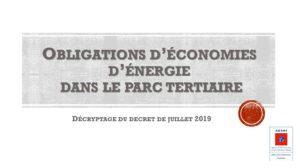 Présentation PowerPoint décret teriaire Loi Elan