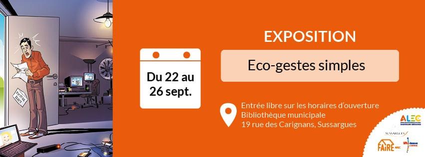 """Expo """"Les éco-gestes simples"""" à Sussargues"""