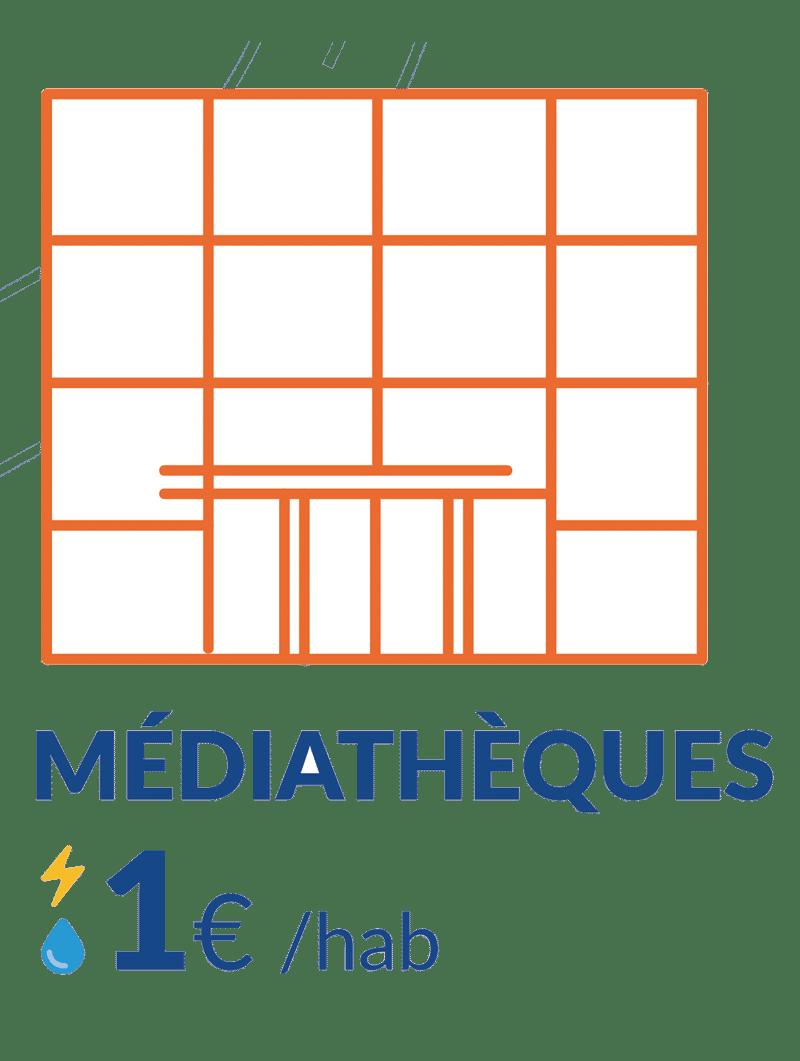 1€ consos médiathèques