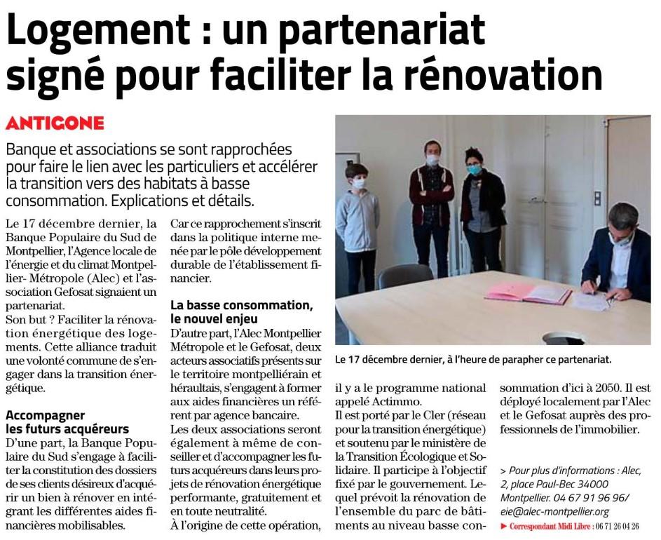 Article midi libre Actimmo 23/12/2020