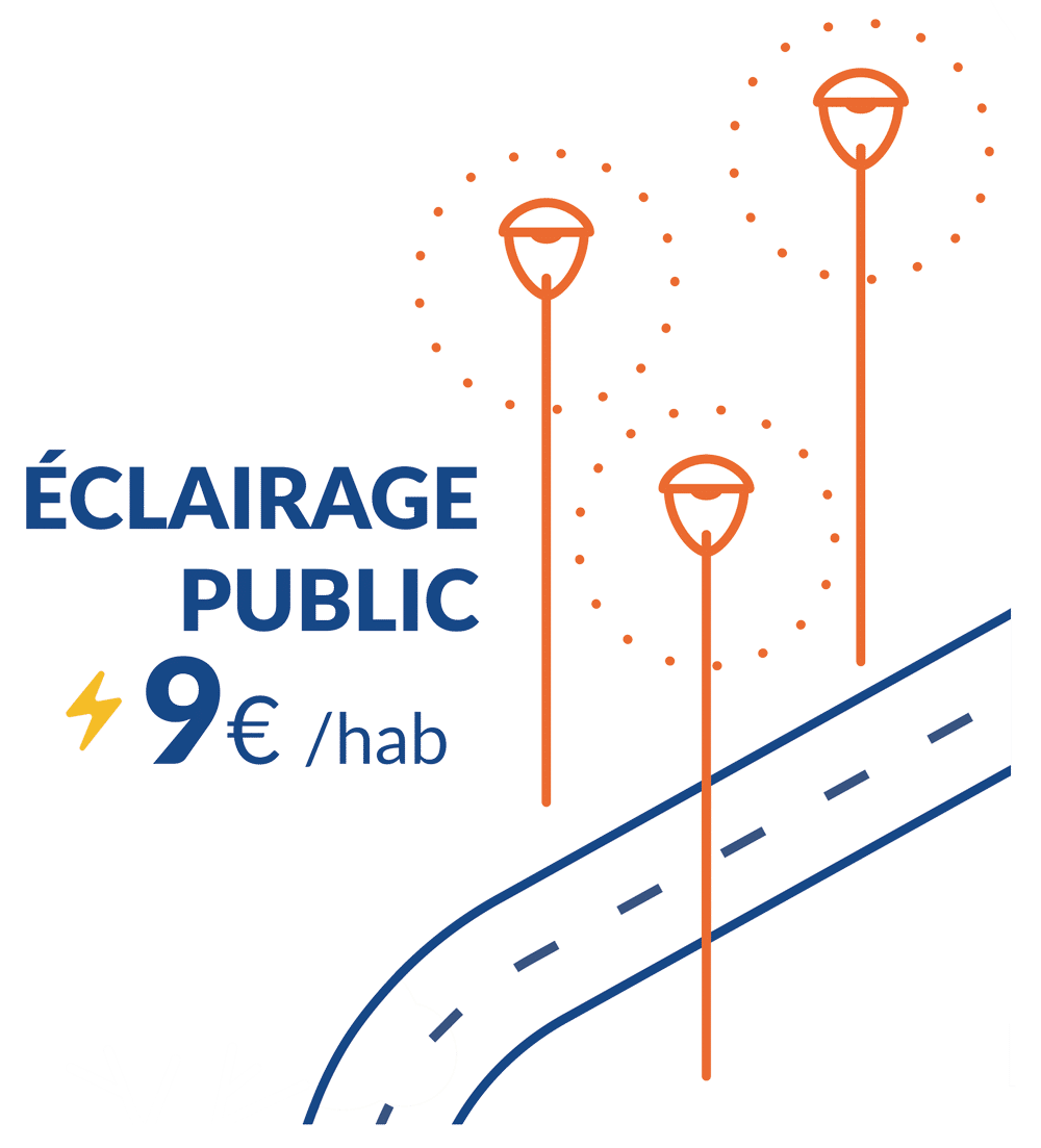 éclairage public 9€ / hab